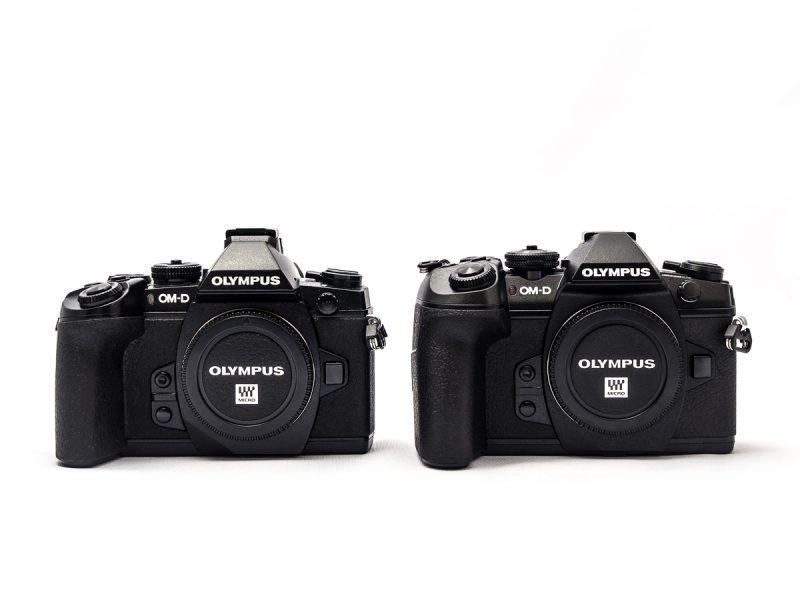 E-M1(左)とE-M1 MarkII(右)