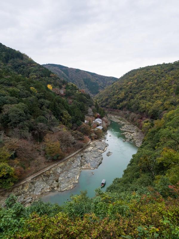 嵐山公演展望台から見る景色
