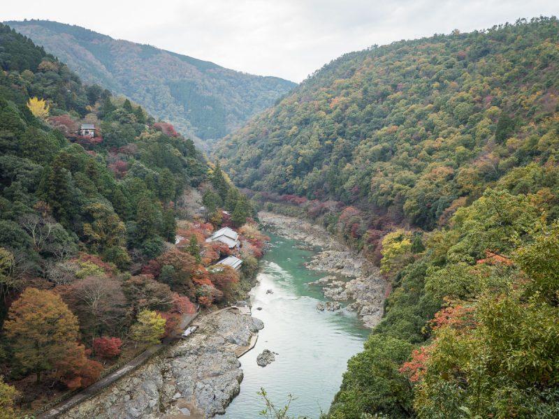 京都嵐山亀山公園展望台から見える景色